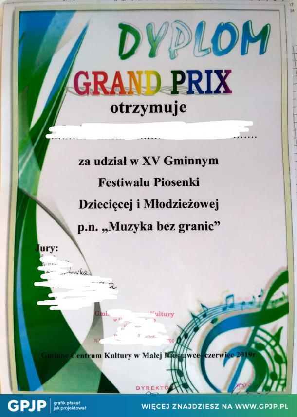 Dyplom Wygranych
