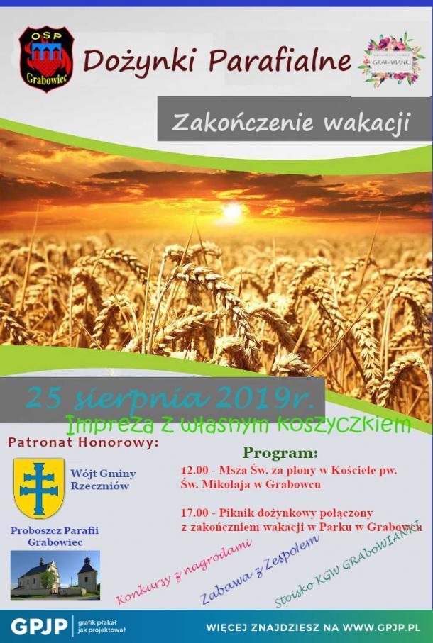 Dożynki parafialne w Grabowcu