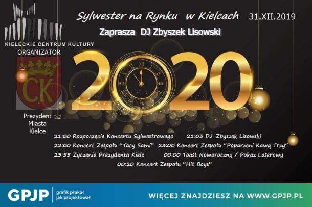 Sylwester w Kielcach 2020