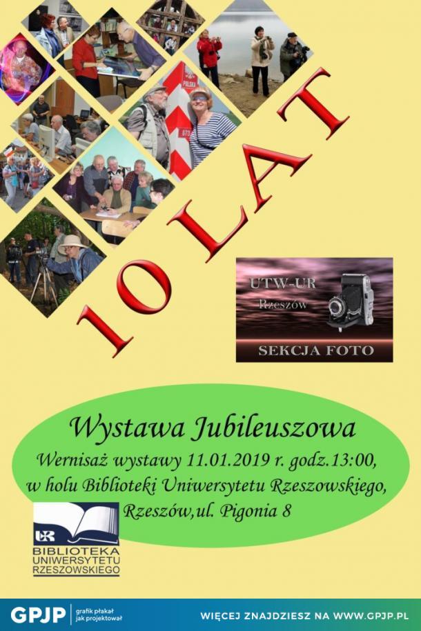 10 lat Sekcji Foto Uniwersytetu 3 Wieku na Uniwersytecie Rzeszowskim