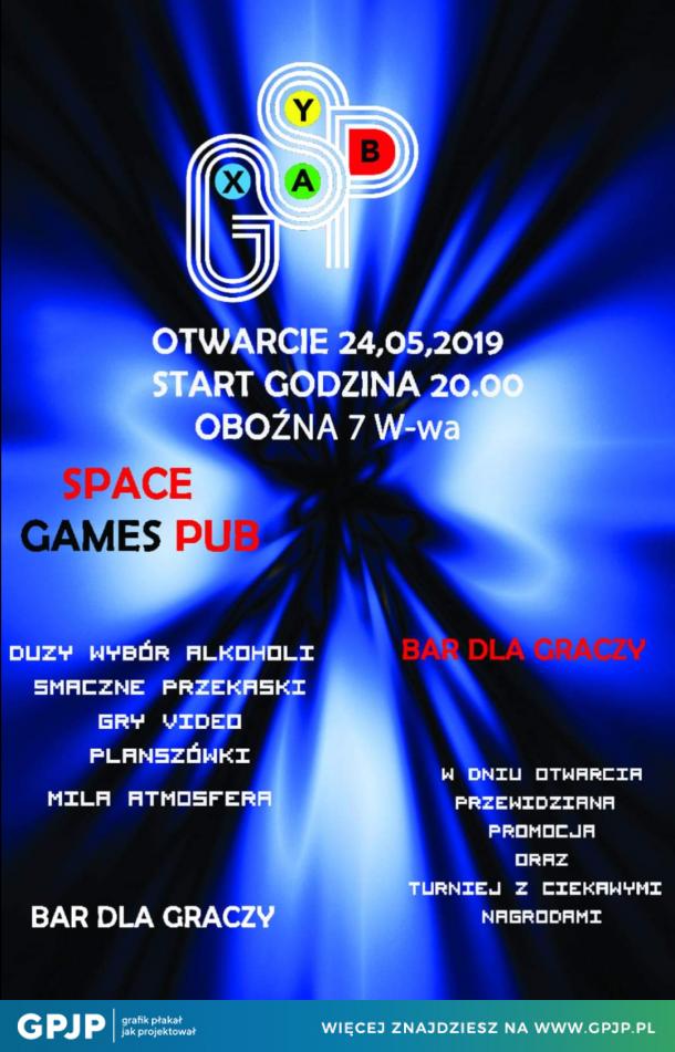 Plakat promocyjny Space Games Pub
